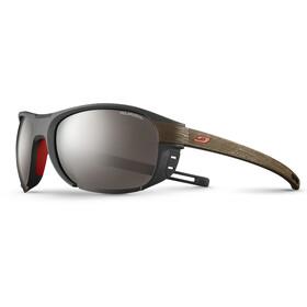 Julbo Regatta Polarized 3+ Sunglasses Dark Gray/Dark Brown-Gray Flash Silver